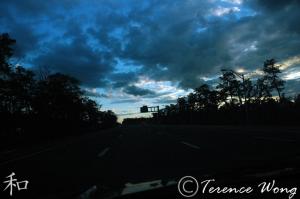Drive home at dusk